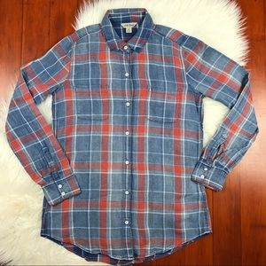Lucky Brand 4th of July Plaid Button Down Top